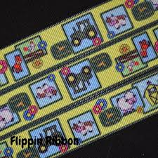 deere ribbon inspired farm animal deere ribbon 7 8 inch printed grosgrain
