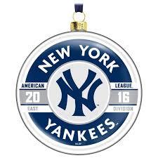 mlb new york yankees glass ornament keepsake ornaments hallmark