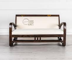 divanetti design divanetto bianco in legno massello duzzle