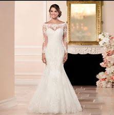 Wedding Dresses With Sleeves Uk Long Sleeve Mermaid U0026 Trumpet Wedding Dresses Ebay