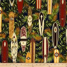 Tropical Home Decor Fabric Hoffman Tropical Collection Surfboards Navy Discount Designer