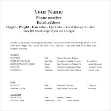 free exle resume theatre resume templates acting resume template 8 free word excel