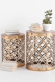 Drum Accent Table by Best 25 Metal Side Table Ideas On Pinterest Silver Side Table