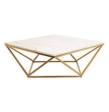 Marble Side Table Rosalie Regency Gold Steel White Marble