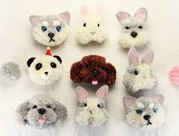the world of animals pompom felt kit with keychain woolen thread
