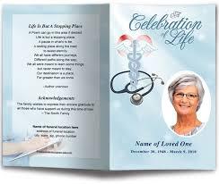 funeral memorial programs single fold funeral memorial program template nursing