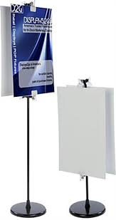 poster clips poster clip stand double sided with blank sign boards