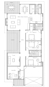 modern house to deep and narrow lot australian influences three