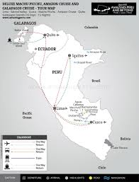 Machu Picchu Map Deluxe Machu Picchu Amazon Cruise And Galapagos Cruise