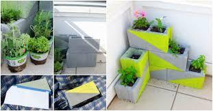 how ho make cute diy concrete block garden planters how to