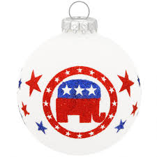 republican elephant glass ornament exclusive collection