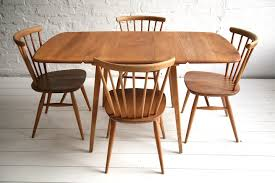 Ercol Dining Table And Chairs 1960s Dining Set By Ercol And Chrome
