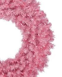 pretty in pink christmas wreath garland treetopia