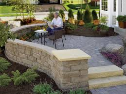 patio u0026 outdoor front yard patio with paver and brick hardscape ideas
