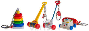 baby keychains fisher price keychains miniature chatter phone corn popper