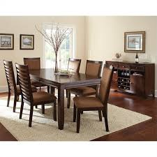 Espresso Dining Room Set by Steve Silver Company Cornell 7 Piece Rectangular Dining Table Set