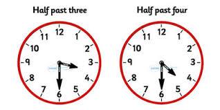 analogue clocks half past time resource time vocaulary clock