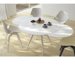 round extendable dining table expandable round dining tables white