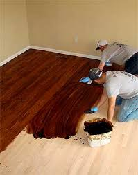 staining hardwood floors custom color