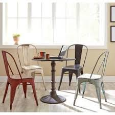 Keeran Bistro Table Tripod Bistro Table Stackable Chairs Jute Chenille Herringbone
