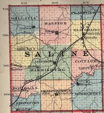 Illinois Township Map by Saline County Il Map