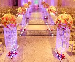 Wedding Aisle Decorations No Flowers Including 3 Feet Iridescent Sq Plexi Wedding Aisle