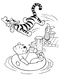pooh enjoying day coloring page animal pages of kidscoloringpage