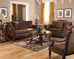Sofas Center  Cozy Living Room Furniture With Traditional Leather - Broyhill living room set