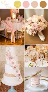 48 pink wedding color combination ideas gold wedding
