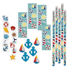 nautical party supplies 144 nautical party supplies 12 pencils sticker sheets 48