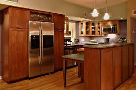 high end interior design ideas with brown wooden kitchen cabinet