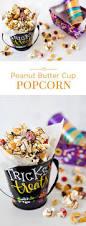 popcorn for halloween halloween peanut butter cup popcorn barbara bakes