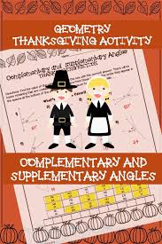 geometry thanksgiving activity complementary and supplementary