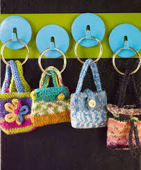 these mini knit keyring purses are awfully cute just make sure to