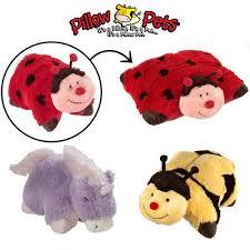 light up ladybug pillow pet 3 pillow pets set stuffed animal large plush kids toys ladybug bee