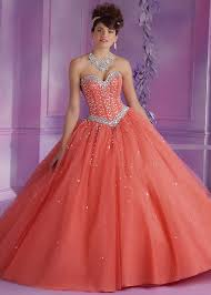 quinceanera dresses coral vizcaya 89012 coral beaded strapless quince dress rissyroos