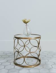 Brass Side Table Cirque Clear Glass Brass Side Table At Grey