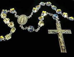 petal rosary swarovski flower petal rosary in sterling silver from