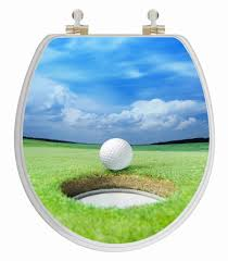 themed toilet seats golf 3d image toilet seat potty concepts