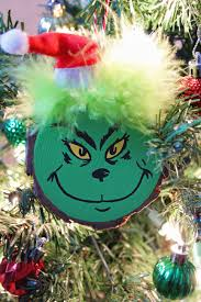 grinch christmas tree wood slice grinch christmas tree ornament craft