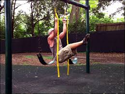 Diy Backyard Pull Up Bar by Swing Set Turned Diy Suspension Trainer Pike Pull Up