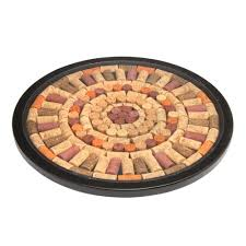 rotating lazy susan with wine corks christmas tree shops andthat