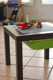 duplo table with storage another table using an ikea lack table but this one uses rails