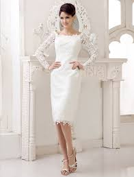 white lace dress with sleeves knee length length sleeve lace knee length maternity wedding dress