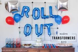 transformers party modern transformers birthday party brenda bird