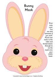 bunny mask mask printable