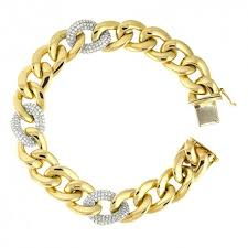 gold bracelet chains images 14k yellow gold and diamond bracelet jpg