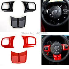jeep steering wheel emblem newest fashion steering wheel cross cover trim molding interior