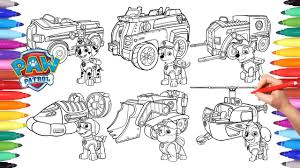 Paw Patrol Vehicles Coloring Pages For Kids How To Color All Pages For To Color