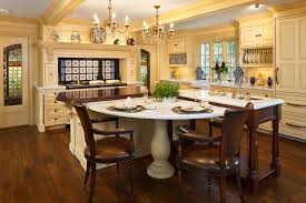 kitchen designs dream kitchen with brick wall and marble table